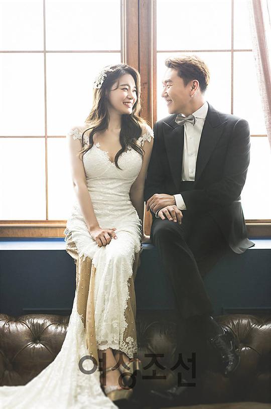 방송인 서유리-최병길 PD가 결혼을 앞두고 웨딩화보를 공개했다.ⓒ여성조선