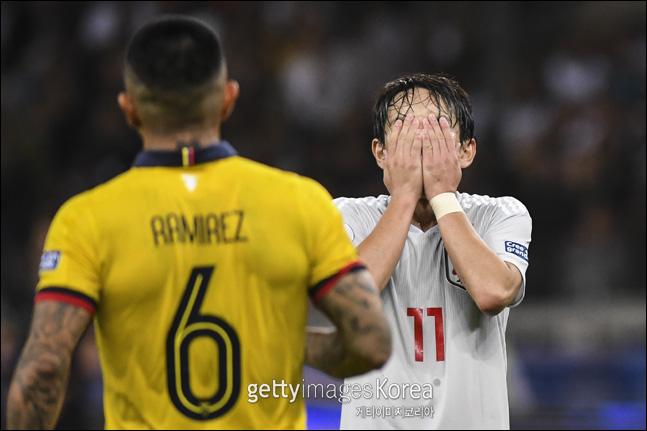 일본이 아쉬운 골 결정력을 보이며 코파 아메리카 8강 진출에 실패했다. ⓒ 게티이미지