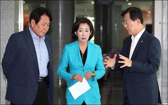 나경원 자유한국당 원내대표가 25일 오전 의원회관에서 열린