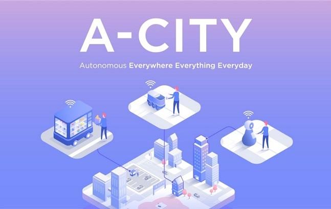 네이버랩스의 기술이 반영된 미래 도시상 'A-CITY'의 모습.ⓒ네이버랩스