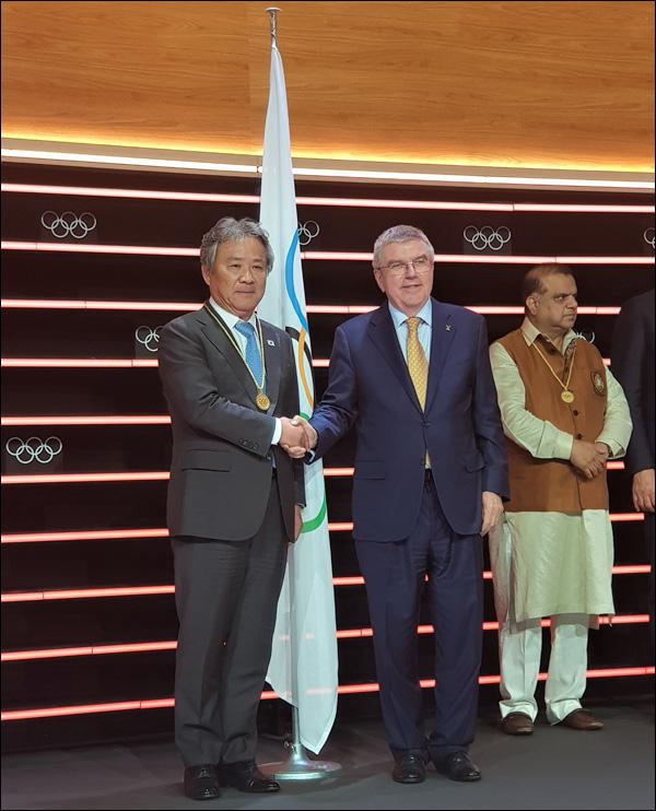 이기흥 대한체육회장이 국제올림픽위원회 위원으로 선출됐다. ⓒ 대한체육회