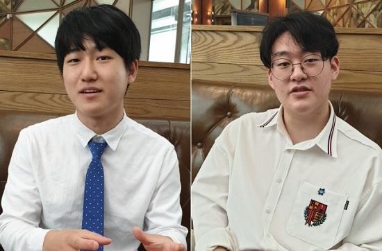 손성현 서울대 원자핵공학과 학생회장(왼쪽)과 곽승민 부회장.ⓒ데일리안 조재학 기자
