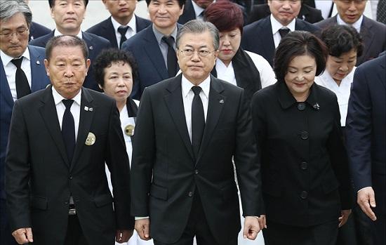 문재인 대통령과 영부인 김정숙 여사(자료사진). ⓒ데일리안 홍금표 기자