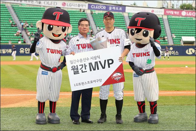 LG의 6월 월간 MVP로 주장 김현수가 선정됐다. ⓒ LG트윈스
