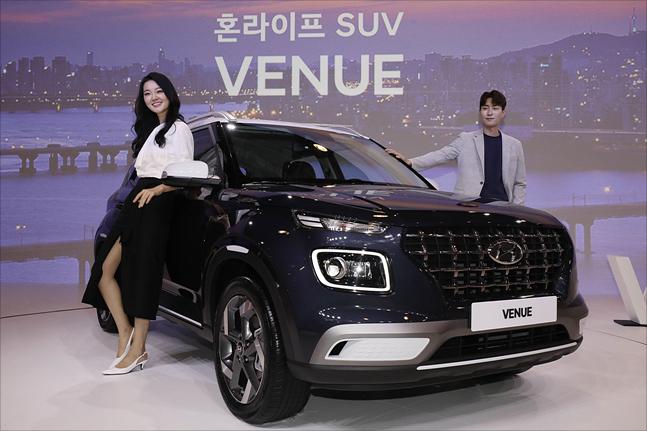 11일 경기도 용인 기흥구 더 카핑에서 현대자동차 소형 SUV