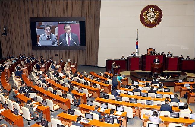 11일 오후 열린 국회 본회의에서 교육·사회·문화분야 대정부질문이 진행되고 있다. ⓒ데일리안 박항구 기자
