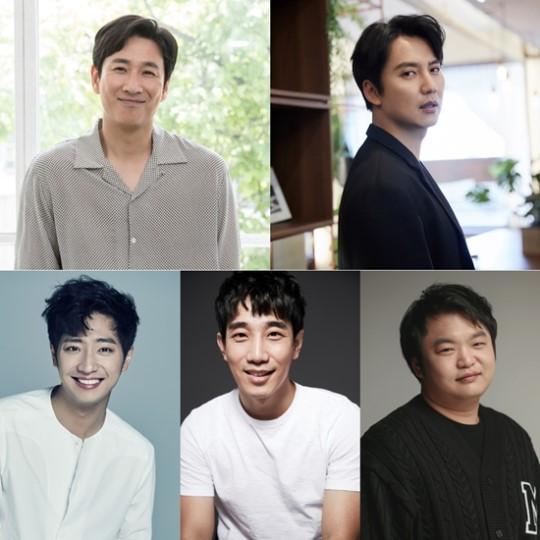 배우 이선균, 김남길, 이상엽, 김민식, 고규필이 tvN 신규 예능 프로그램
