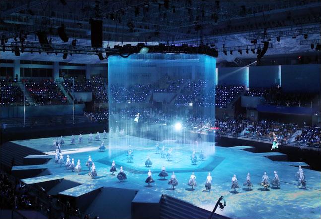 제18회 2019광주세계수영선수권대회가 12일 오후 8시20분 광주여대 유니버시아드 체육관에서 화려한 개막식을 열고 17일간의 대장정에 돌입했다. ⓒ 2019광주세계수영조직위