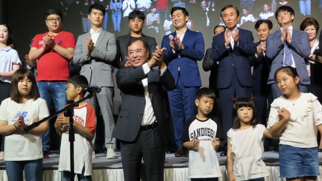 김병준 자유한국당 전 비상대책위원장이 지난 12일 오후 대구그랜드호텔에서 징검다리포럼 대구·경북 창립식을 갖고 있다. ⓒ데일리안 정도원 기자
