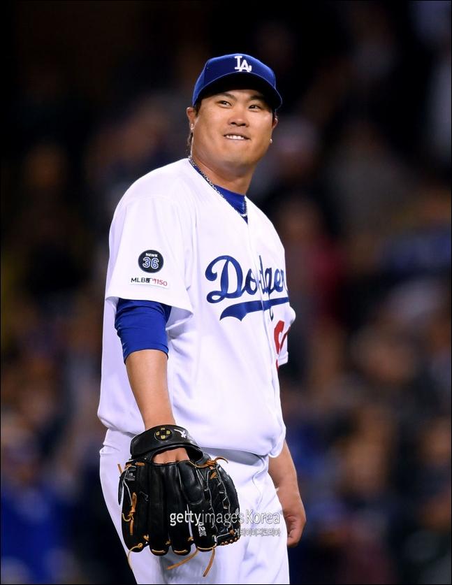 MLB 평균자책점 1위에 올라있는 류현진. ⓒ 게티이미지