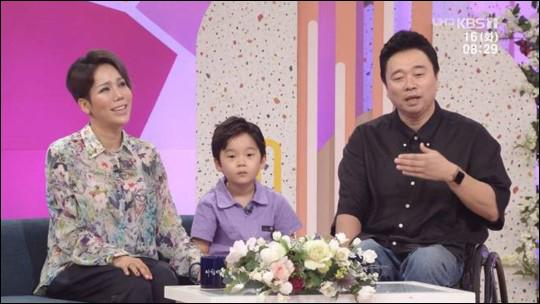 강원래 아내 김송이 구준엽으로부터 받은 편지 내용을 공개했다. KBS 방송 캡처.