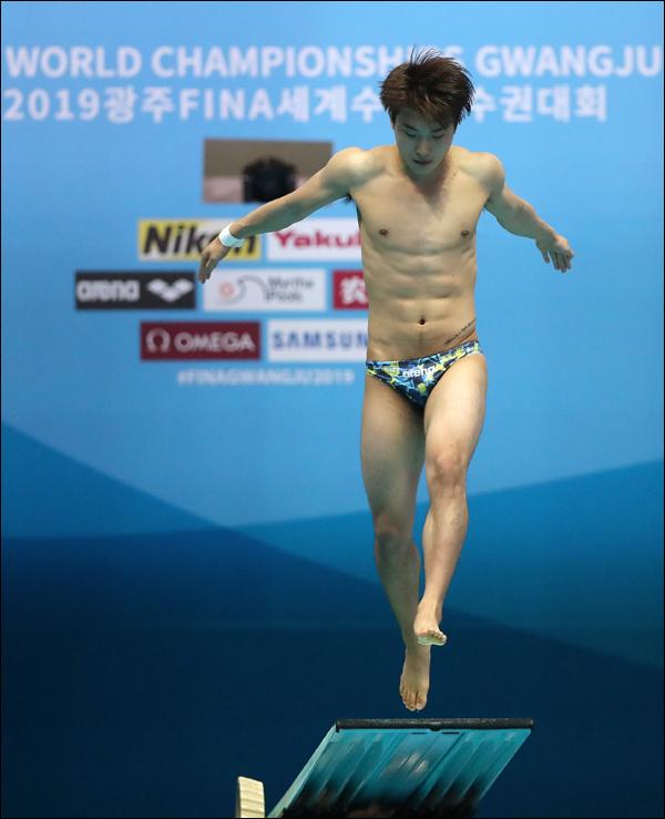 우하람이 2020년 도쿄올림픽 본선 진출권을 손에 넣었다. ⓒ 2019광주세계수영조직위 ⓒ광주세계수영선수권조직위원회