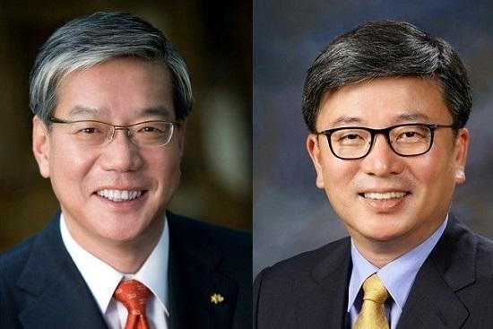 왼쪽부터 황영기 전 금융투자협회장, 기동호 코리아에셋투자증권 사장.