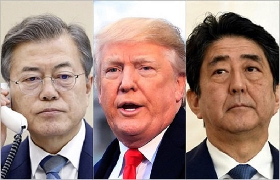 도널드 트럼프 미국 대통령이 일본의 무역보복 조치를 둘러싼