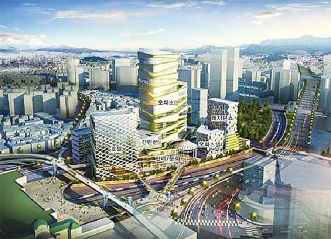 서울역 북부역세권 개발 예상 조감도. ⓒ코레일