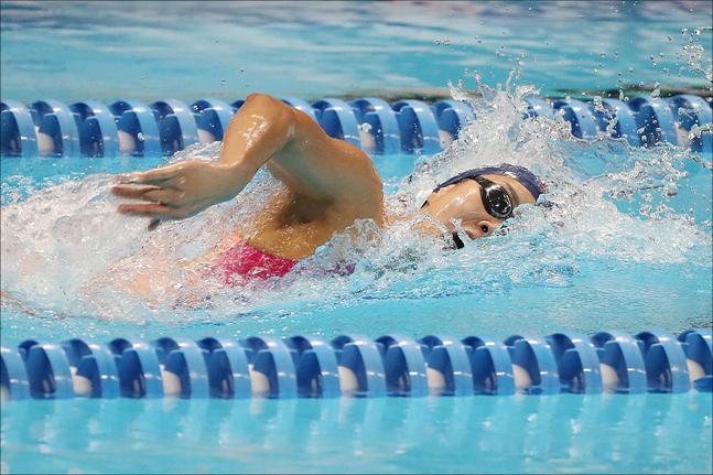 [광주 세계수영선수권대회] 여자 개인혼영 200m 6위에 만족한 김서영. ⓒ 데일리안 홍금표 기자