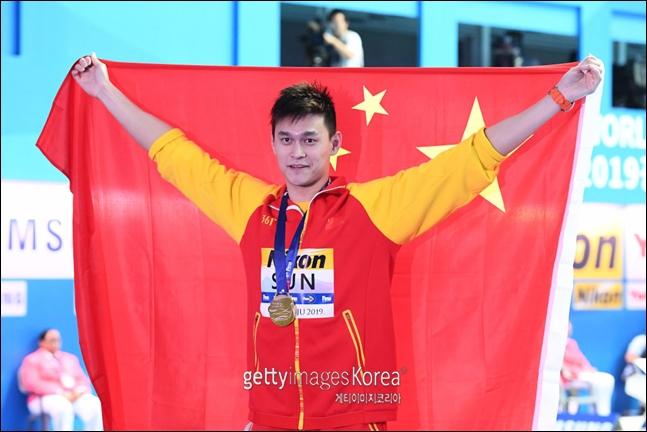 자유형 200m 금메달도 유력한 쑨양. ⓒ 게티이미지