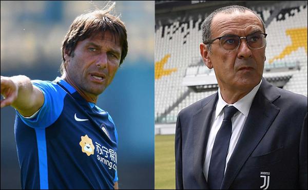 첼시를 이끌었던 마우리치오 사리 감독과 안토니오 콘테 감독이 각각 유벤투스와 인터밀란을 맡아 피할 수 없는 대결을 펼칠 예정이다. ⓒ 유벤투스/인터밀란 공식 SNS