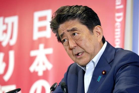 아베 신조 일본 총리 ⓒ아사히 신문