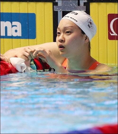 여자 접영 박수진. ⓒ 연합뉴스