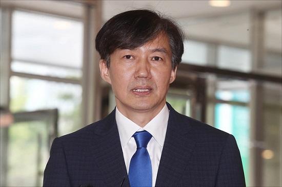 법무부 장관 후보자로 지명된 조국 전 청와대 민정수석이 9일 오후 인사청문회 준비 사무실이 마련된 서울 종로구 적선동 현대빌딩에서 소감을 밝히고 있다. ⓒ데일리안 홍금표 기자