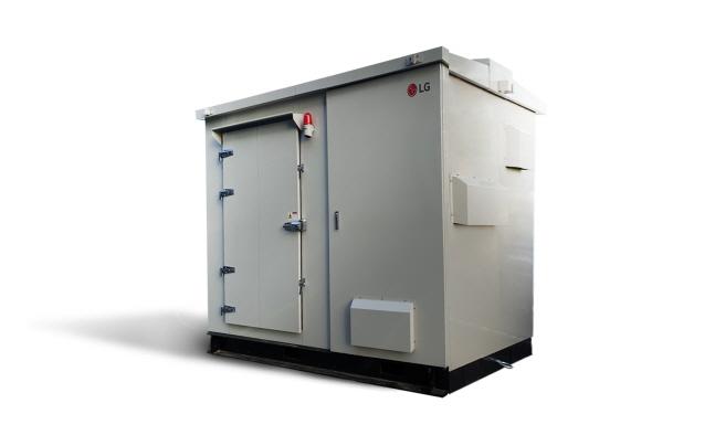 100kW급 태양광 발전용 올인원 에너지저장장치(ESS).ⓒLG전자