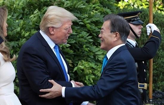 문재인 대통령과 도널드 트럼프 미국 대통령. ⓒ청와대