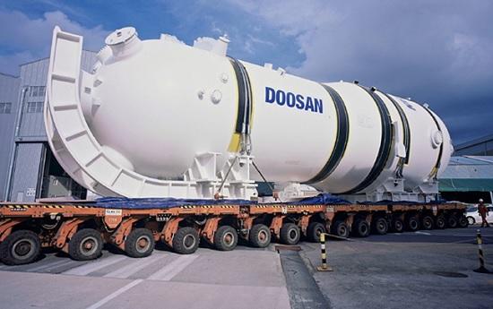 순수 국산 기술로 개발돼 지난 2012년 12월 지식경제부로부터 세계일류상품으로 선정된 두산중공업의 상업용 원자력발전소 증기발생기.ⓒ두산중공업