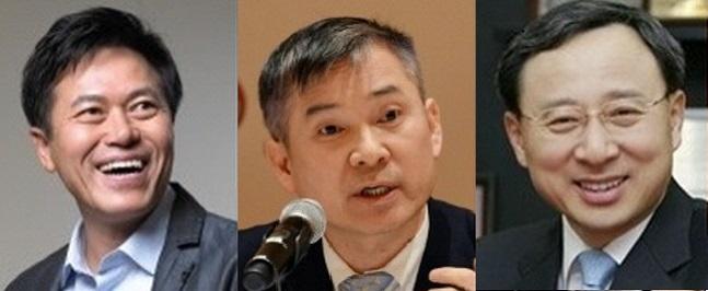 왼쪽부터 박정호 SK텔레콤 사장, 하현회 LG유플러스 부회장, 황창규 KT 회장.ⓒ 각 사 제공