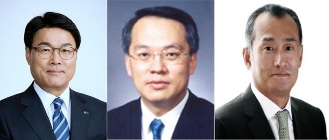 왼쪽부터 최정우 포스코 회장, 김용환 현대제철 부회장, 장세주 동국제강 회장ⓒ각 사