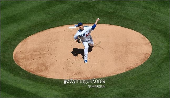 류현진은 올 시즌 홈 경기에서 9승 무패, 평균자책점 0.81로 언터처블이다. ⓒ 게티이미지