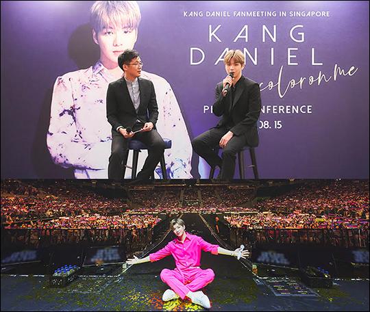 가수 강다니엘이 싱가포르에서의 첫 단독 팬미팅을 성공적으로 마무리했다. ⓒ 커넥트엔터테인먼트