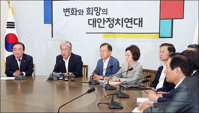 13일 국회에서 열린 대안정치연대 회의에서 유성엽 임시대표가 회의를 주재하고 있다. ⓒ데일리안 박항구 기자