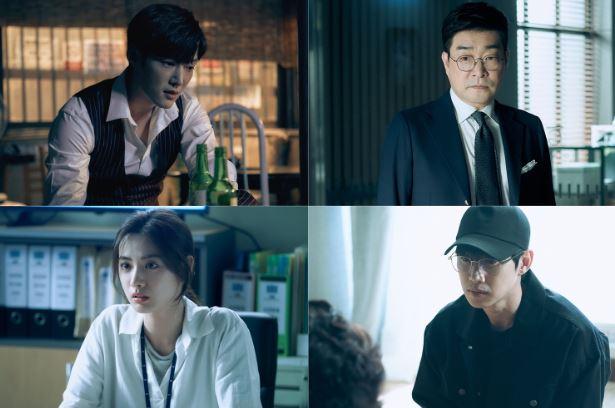 '저스티스' 최진혁, 손현주, 나나, 박성훈의 연기력 대결이 시청자들을 압도하고 있다. ⓒ KBS