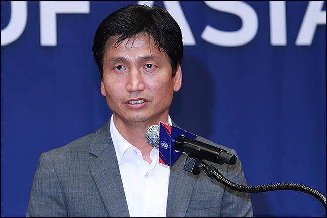 대한축구협회(KFA)는 정정용 감독과 U-20 대표팀 전담 계약을 체결했다. ⓒ 데일리안 류영주 기자