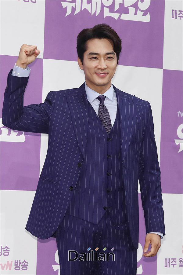 배우 송승헌이 21일 오후 서울 강남구 임피리얼팰리스에서 열린 tvN 새 월화드라마