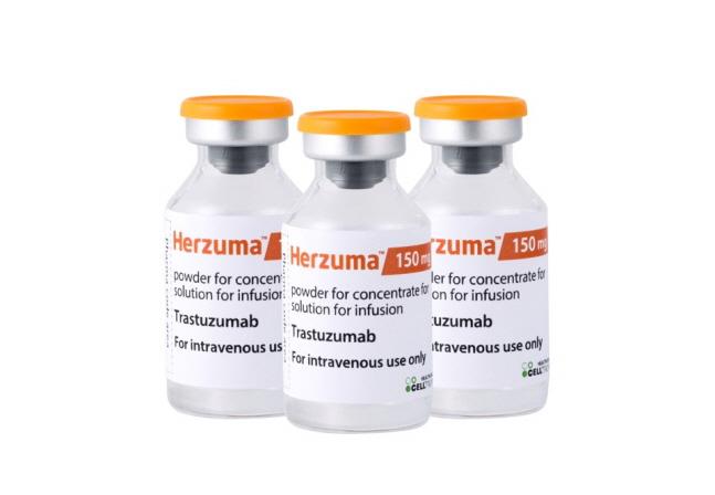셀트리온헬스케어는 지난 21일 일본 후생노동성(MHLW)으로부터 '허쥬마'(성분명 트라스투주맙)에 대한 유방암 3주요법 허가를 추가 취득했다.  ⓒ셀트리온헬스케어