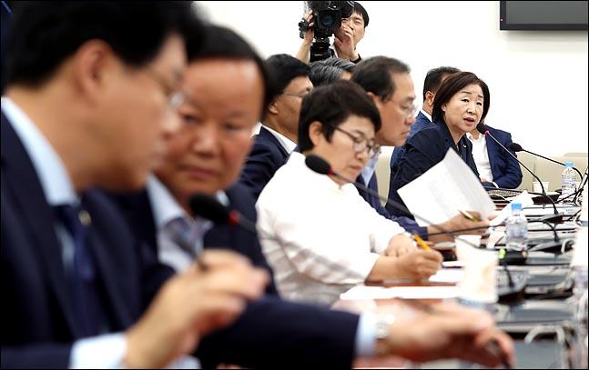 선거제도 개혁을 다루는 국회 정치개혁특별위원회의 활동시한을 열흘 남겨둔 20일 국회에서 정개특위 전체회의에서 심상정 정의당 의원이 발언을 하고 있다. ⓒ데일리안 박항구 기자