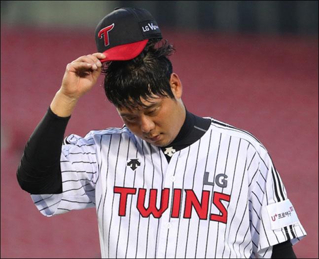 LG 트윈스의 우완 베테랑 투수 류제국(36)이 돌연 은퇴를 선언했다. ⓒ 연합뉴스
