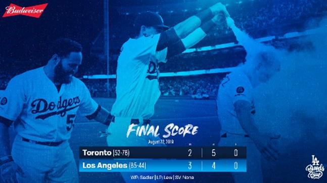 토론토와의 홈 3연전 스윕에 성공한 다저스는 24일 오전 11시10분부터 'AL 승률 1위' 뉴욕 양키스와 홈경기를 치른다. ⓒ LA다저스