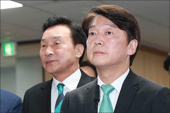 손학규 바른미래당 대표와 안철수 전 대표(자료사진). ⓒ데일리안 류영주 기자