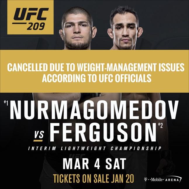몇 차례 취소됐던 누르마고메도프-퍼거슨 매치. ⓒ UFC