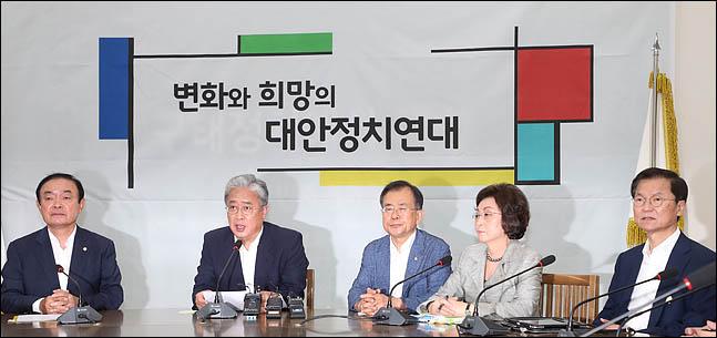 13일 오전 국회에서 열린 대안정치연대 회의에서 유성엽 임시대표가 모두발언을 하고 있다. ⓒ데일리안 박항구 기자