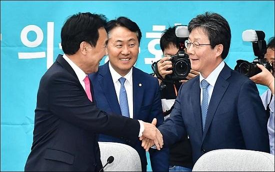 손학규 바른미래당 대표와 유승민 의원 ⓒ데일리안 박항구 기자