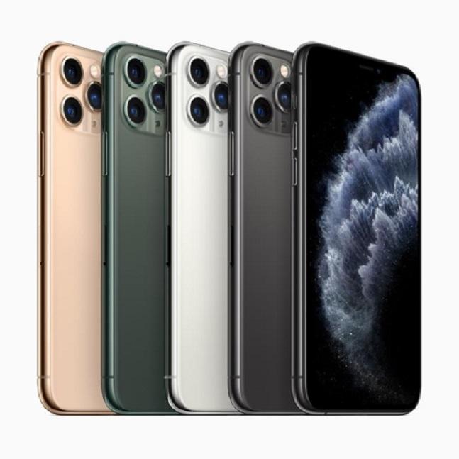 아이폰11 프로·프로 맥스는 미드나이트 그린, 스페이스 그레이, 실버, 골드 등 네 가지 색상으로 출시된다.ⓒ애플