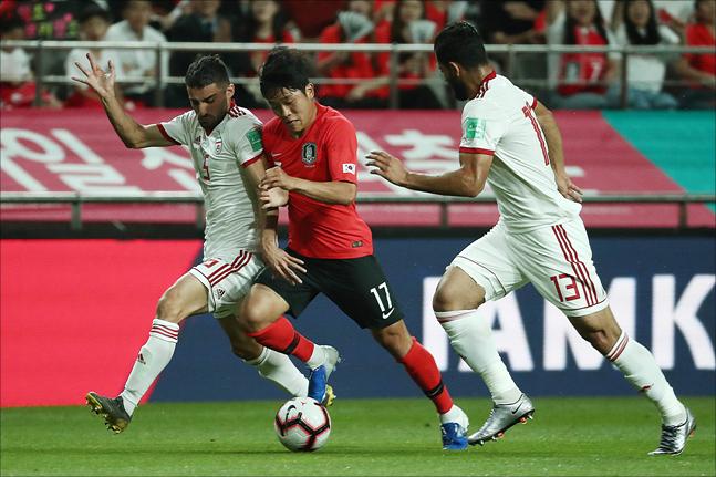 [대한민국 투르크메니스탄] 전반 13분 터진 나상호의 선제골이 없었다면 경기는 자칫 꼬일 수 있었다(자료사진). ⓒ 데일리안 홍금표 기자