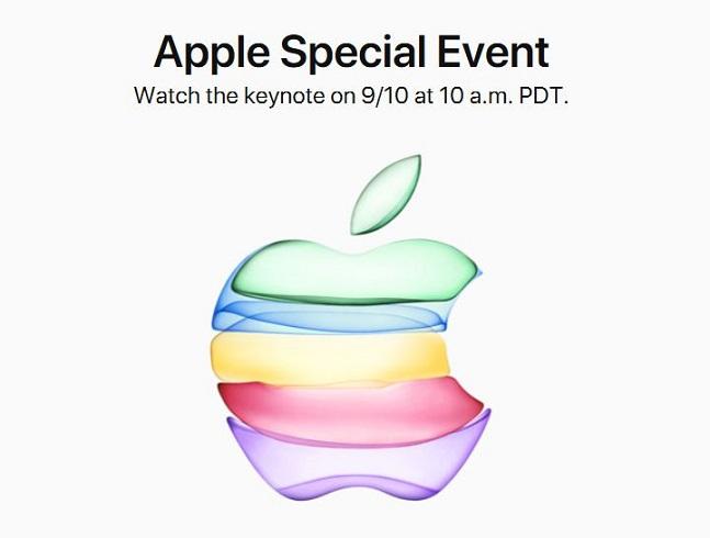 애플이 언론에 발송한 아이폰11 행사 초대장.ⓒ애플