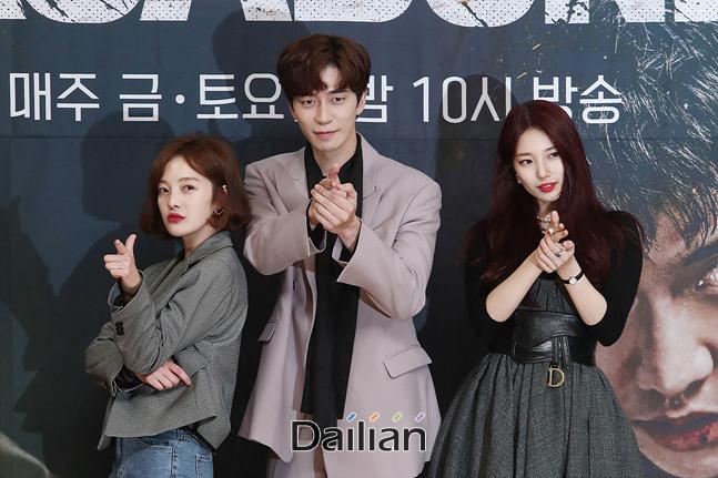 배우 황보라, 신성록, 배수지가 16일 오후 서울 양천구 SBS 목동사옥에서 열린 드라마
