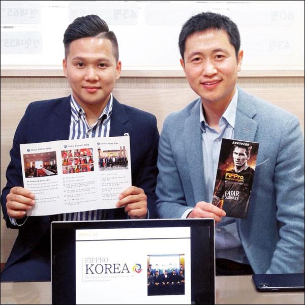 사단법인 한국프로축구선수협회(이하 선수협)는 2019년 9월 27일 CGV건대입구에서 이영표와 함께 힐링 토크 콘서트 '이영표의 극한 청춘 : 보고, 차고, 꿈꾸다'를 진행한다. ⓒ 한국프로축구선수협회