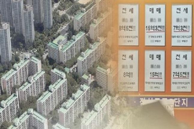강남권 아파트 중위가격은 지속적으로 상승해 강북과의 집값 격차가 크게 벌어지고 있다. 서울 아파트 단지 모습.ⓒ연합뉴스